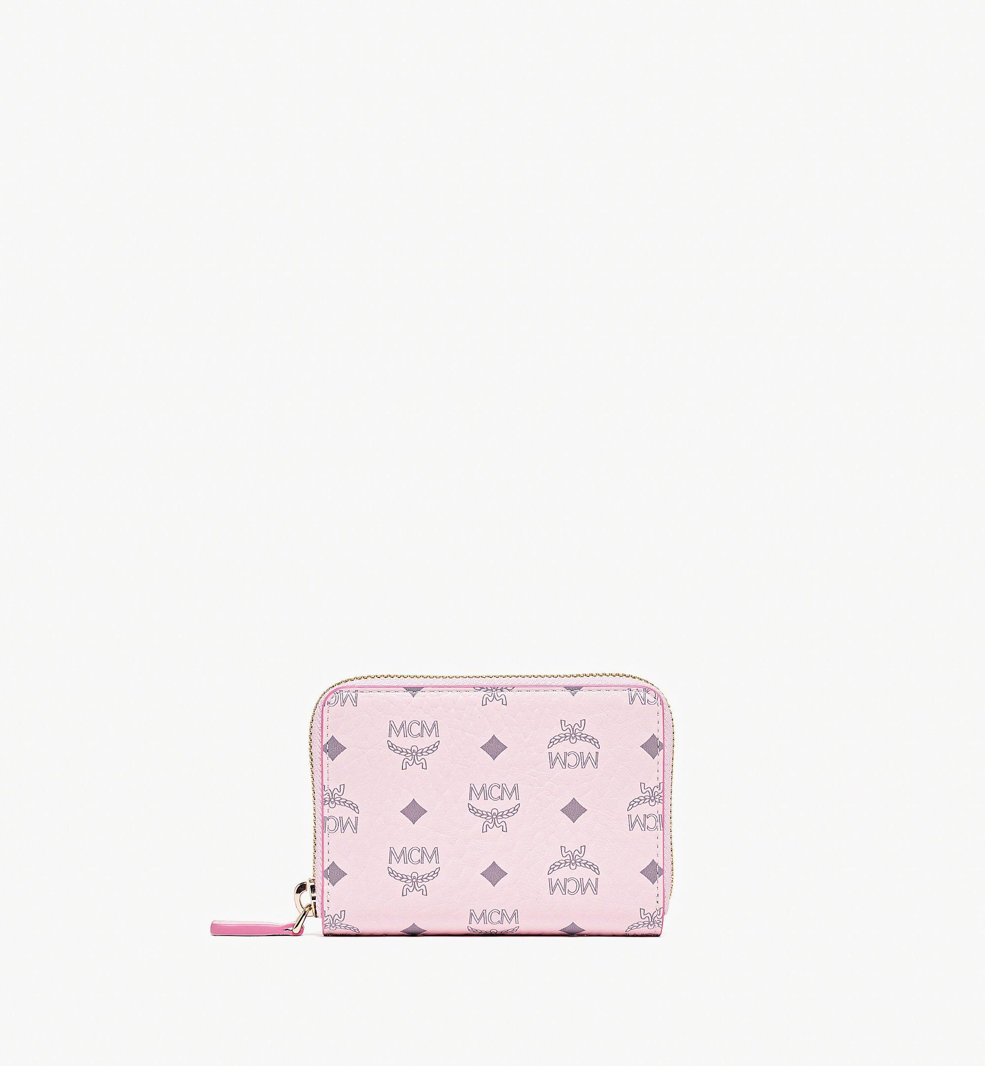MCM Zip Around Wallet in Visetos Original Pink MYLAAVI03QH001 Alternate View 1