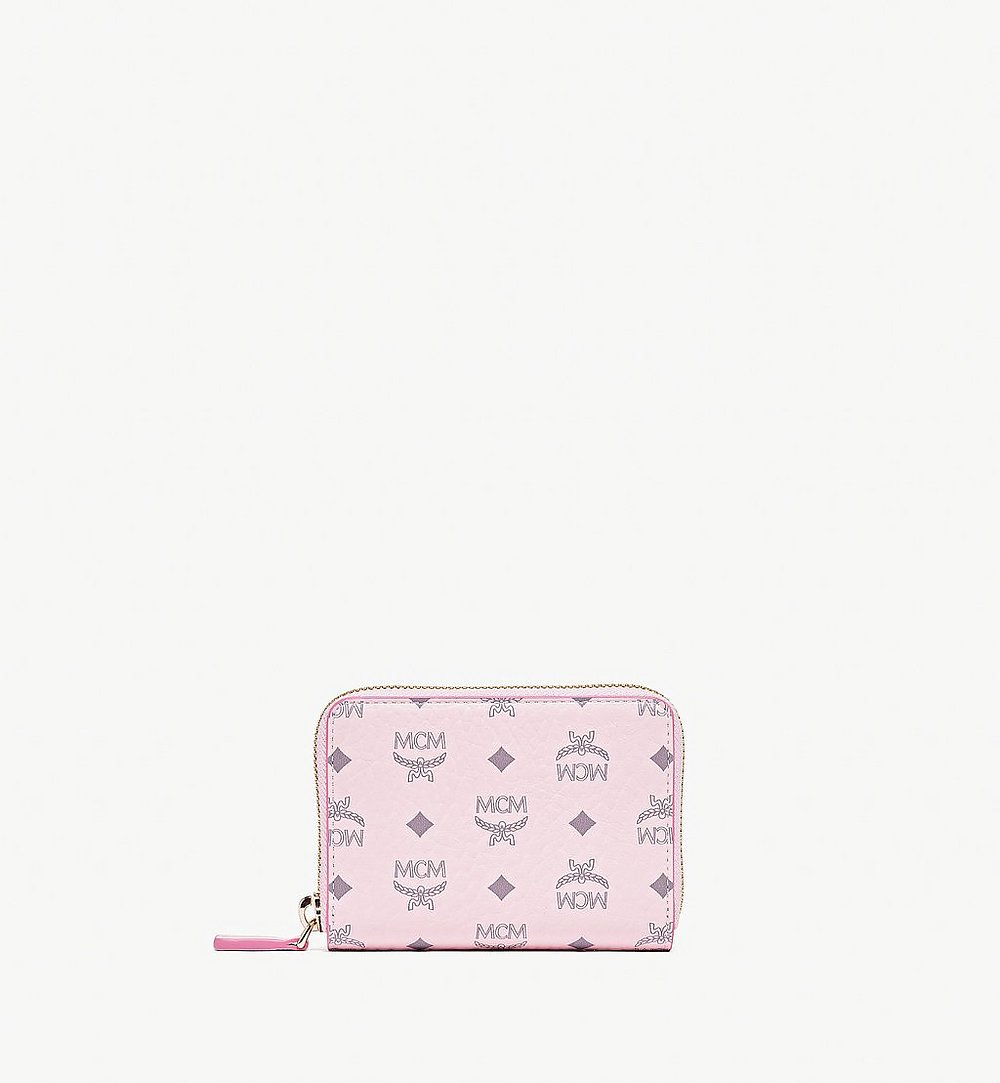 MCM Zip Around Wallet in Visetos Original Pink MYLAAVI03QH001 Alternate View 1