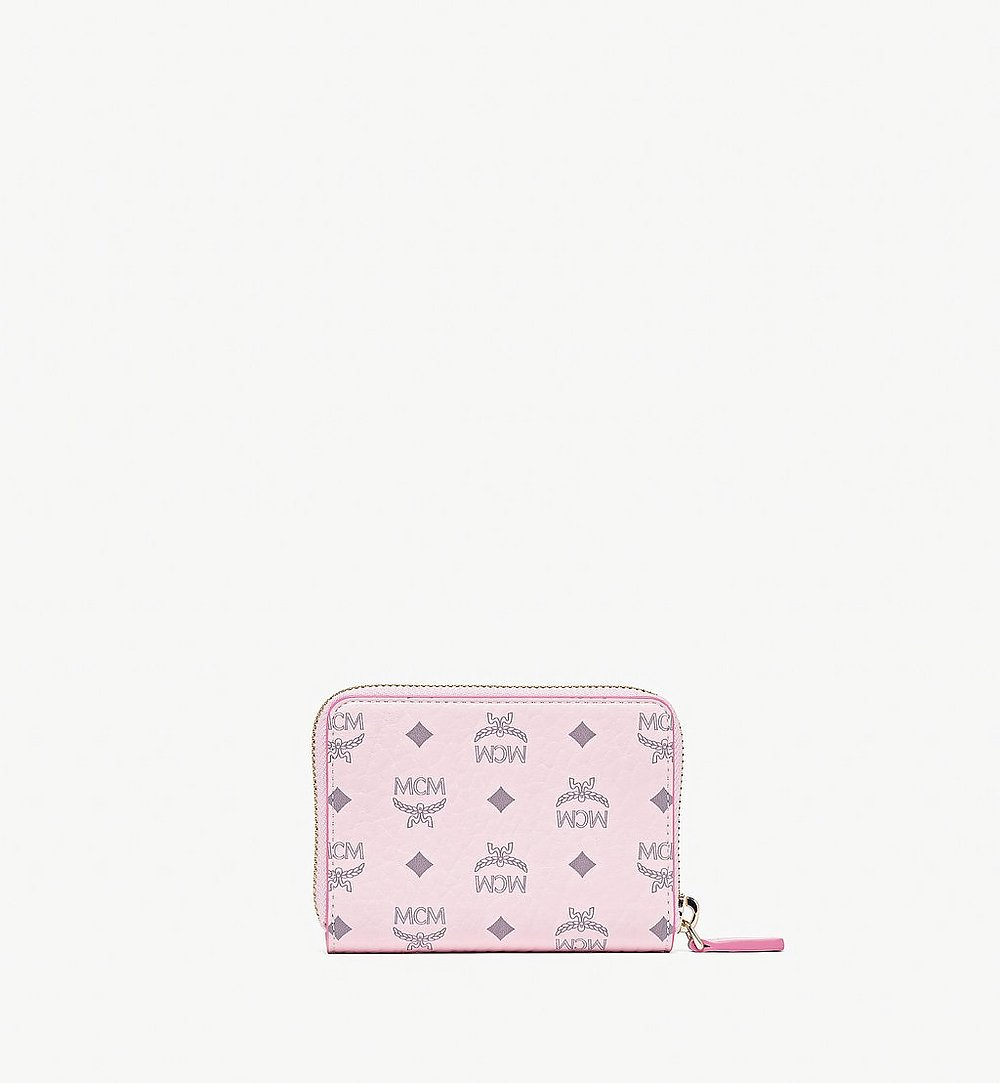 MCM Zip Around Wallet in Visetos Original Pink MYLAAVI03QH001 Alternate View 2