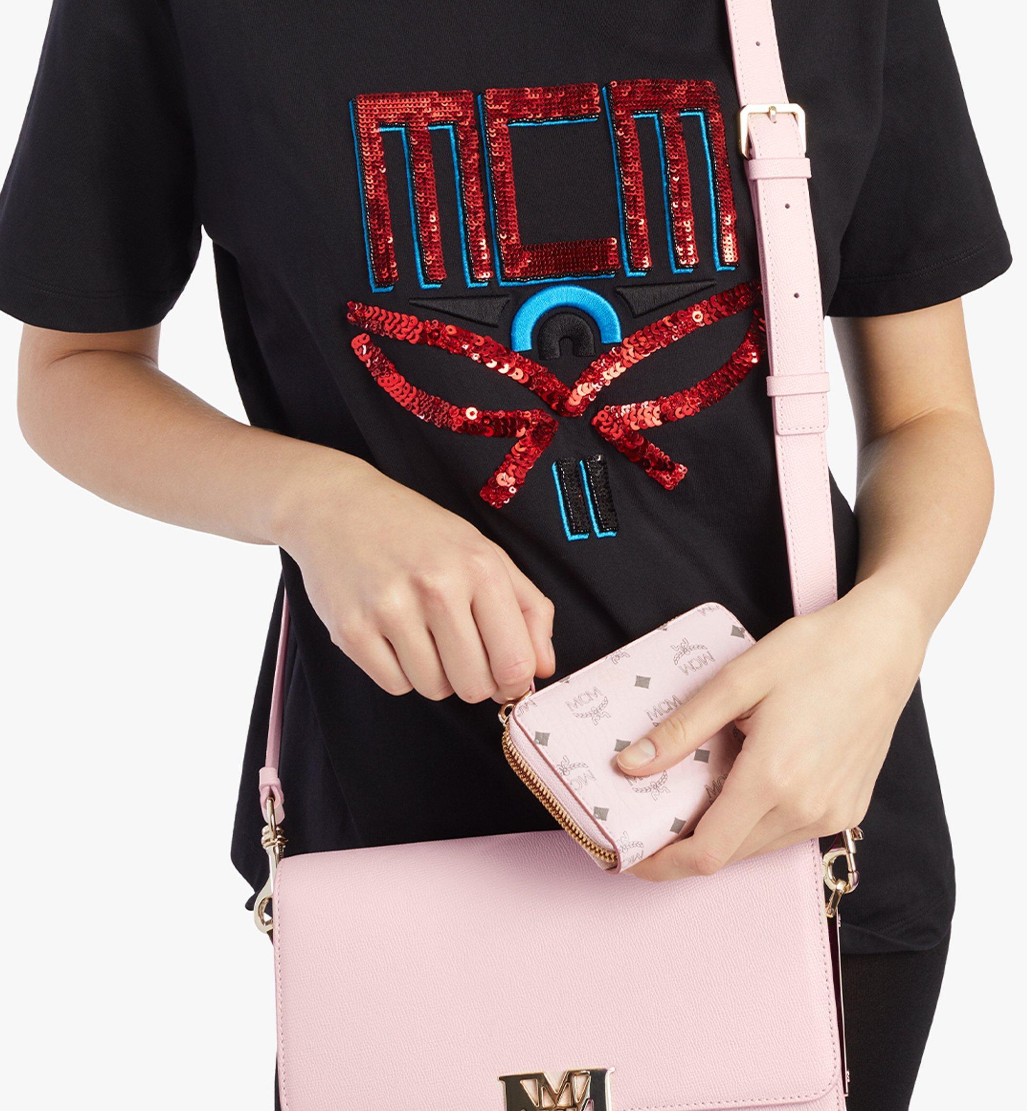MCM Zip Around Wallet in Visetos Original Pink MYLAAVI03QH001 Alternate View 2