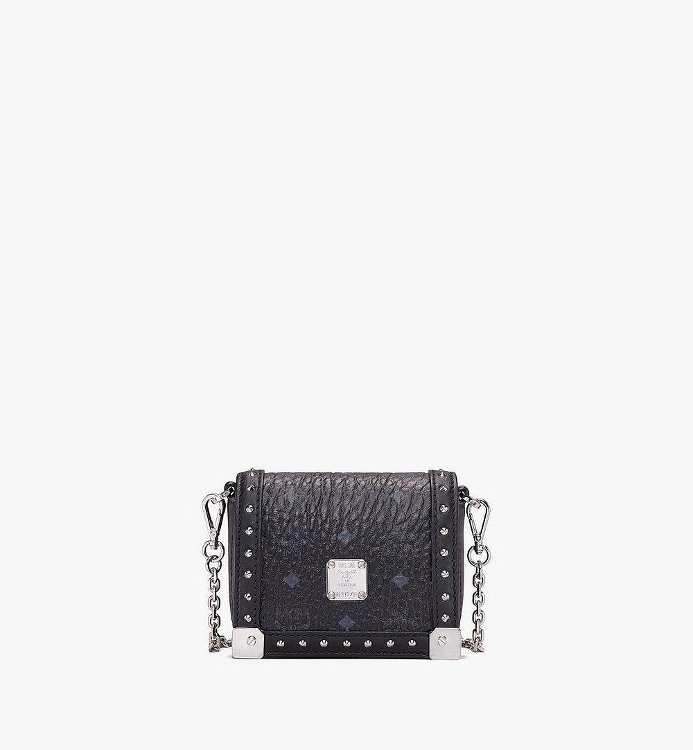 MCM Berlin Series Mini Wallet in Visetos Black MYLASBN02BK001 Alternate View 1
