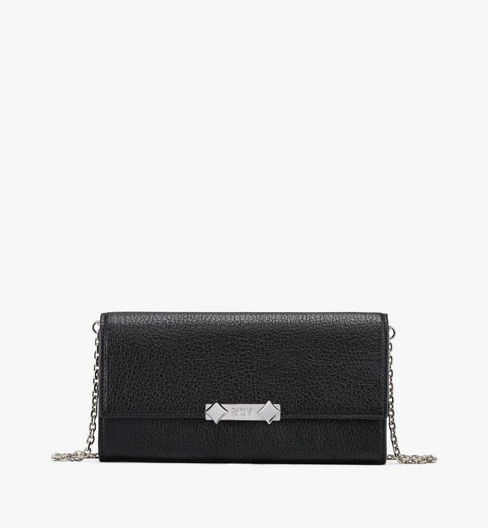 MCM Milano Crossbody Wallet in Goatskin Leather Alternate View