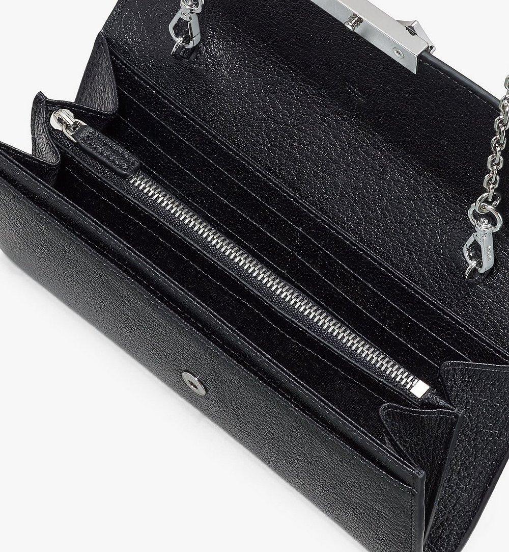 MCM Milano Crossbody Wallet in Goatskin Leather Black MYLASDA01BK001 Alternate View 2