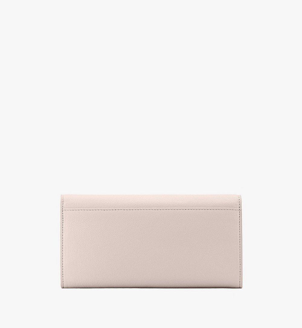 MCM Milano Crossbody Wallet in Goatskin Leather Beige MYLASDA01IH001 Alternate View 1