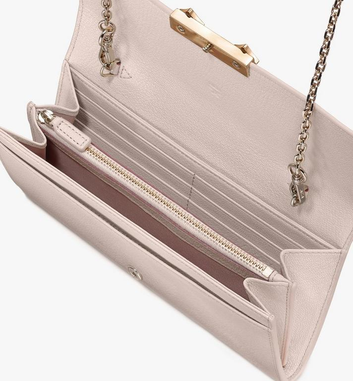 MCM Milano Crossbody Wallet in Goatskin Leather Pink MYLASDA01IH001 Alternate View 3