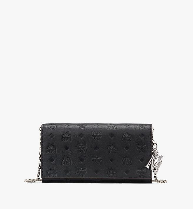 MCM Klara Chain Wallet in Monogram Leather Alternate View
