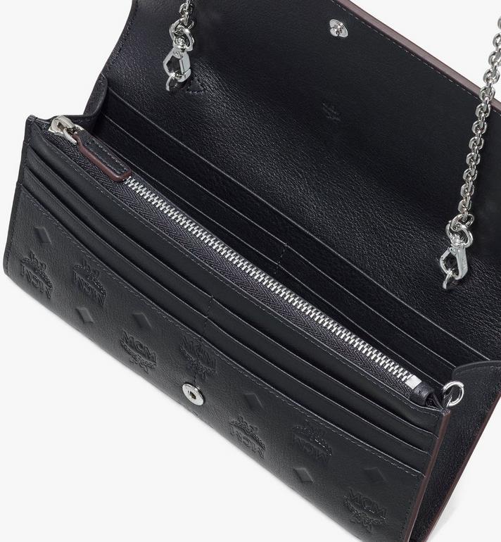 MCM Klara Chain Wallet in Monogram Leather Black MYLASKM01BK001 Alternate View 3