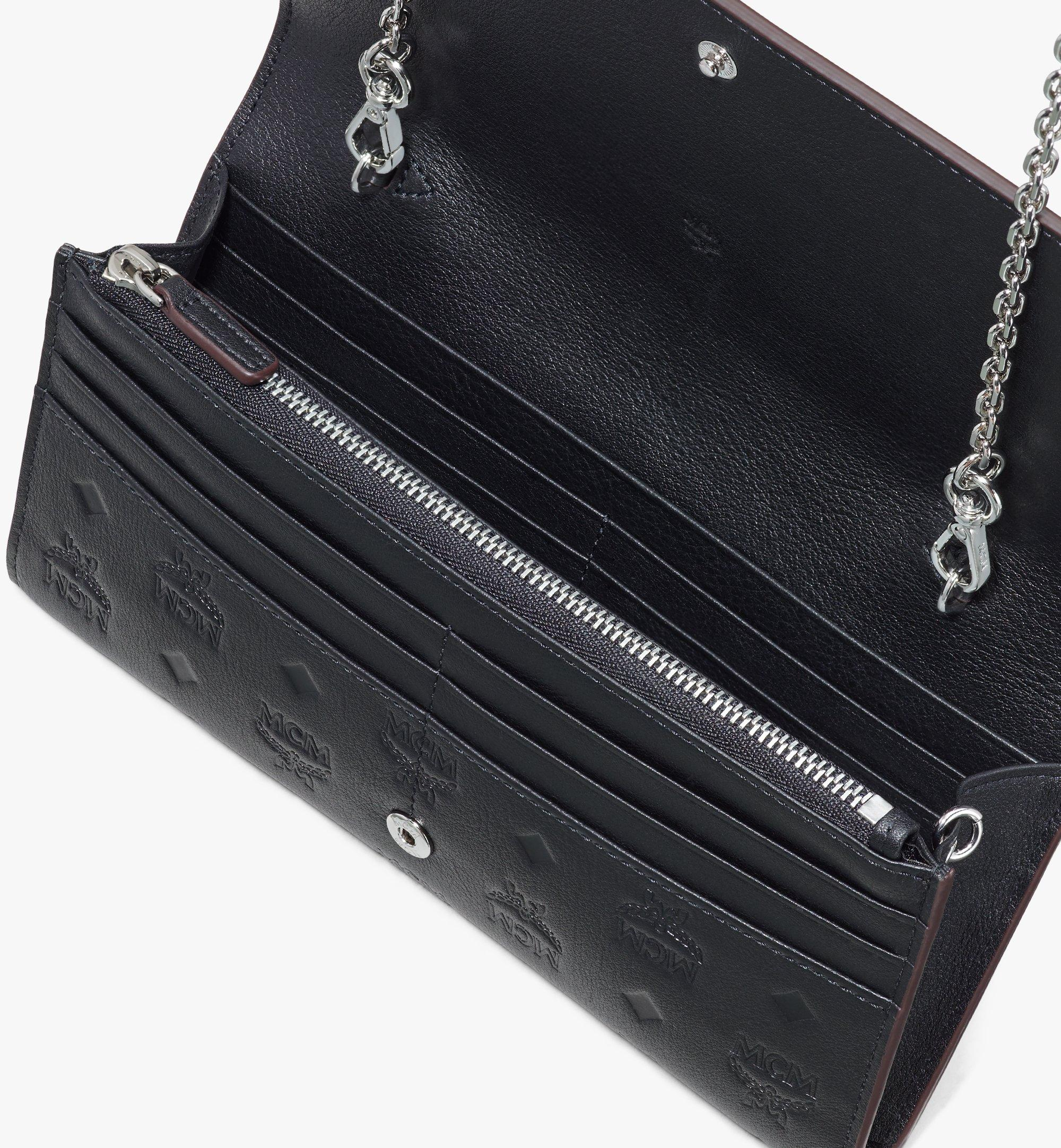 MCM Klara Chain Wallet in Monogram Leather Black MYLASKM01BK001 Alternate View 3
