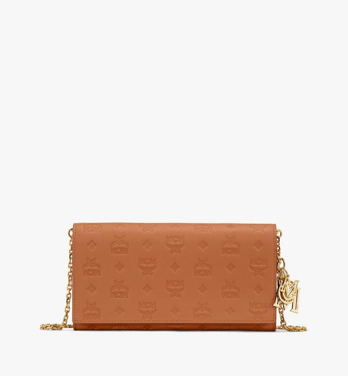 Klara Chain Wallet In Monogram Leather by Mcm