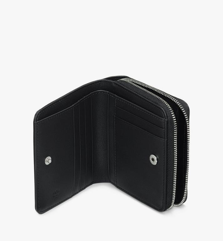 MCM Zip Wallet in Leopard Studded Leather Black MYLASLF01BK001 Alternate View 3