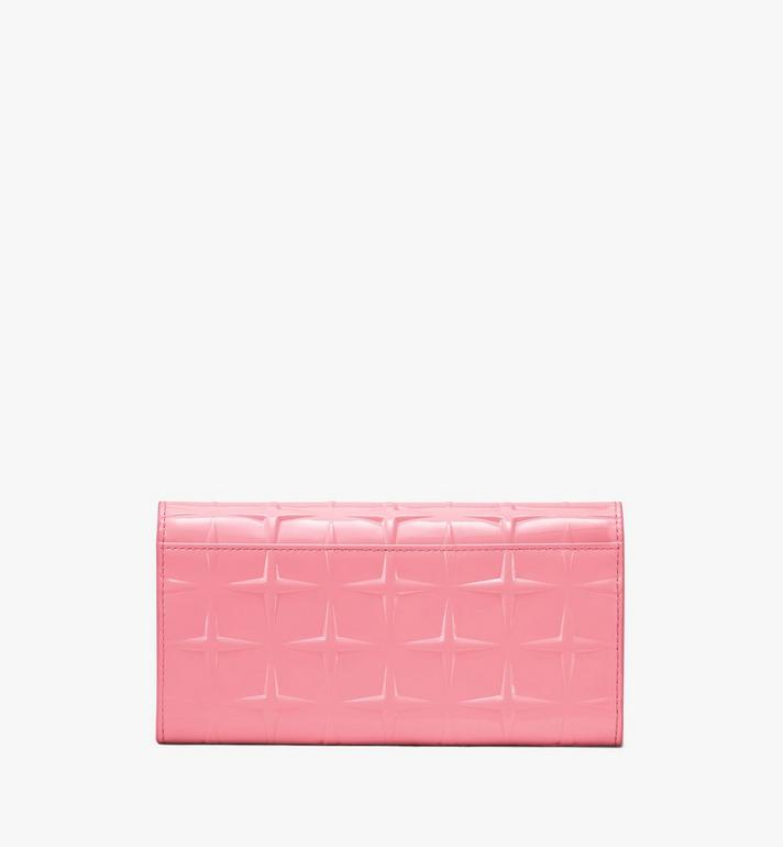 MCM Patricia Crossbody Wallet in Diamond Patent Leather Pink MYLASPA01QG001 Alternate View 2