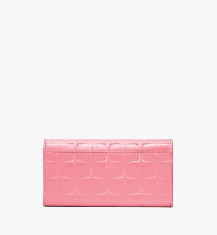 MCM Patricia Crossbody Wallet in Diamond Patent Leather Pink MYLASPA01QG001 Alternate View 2