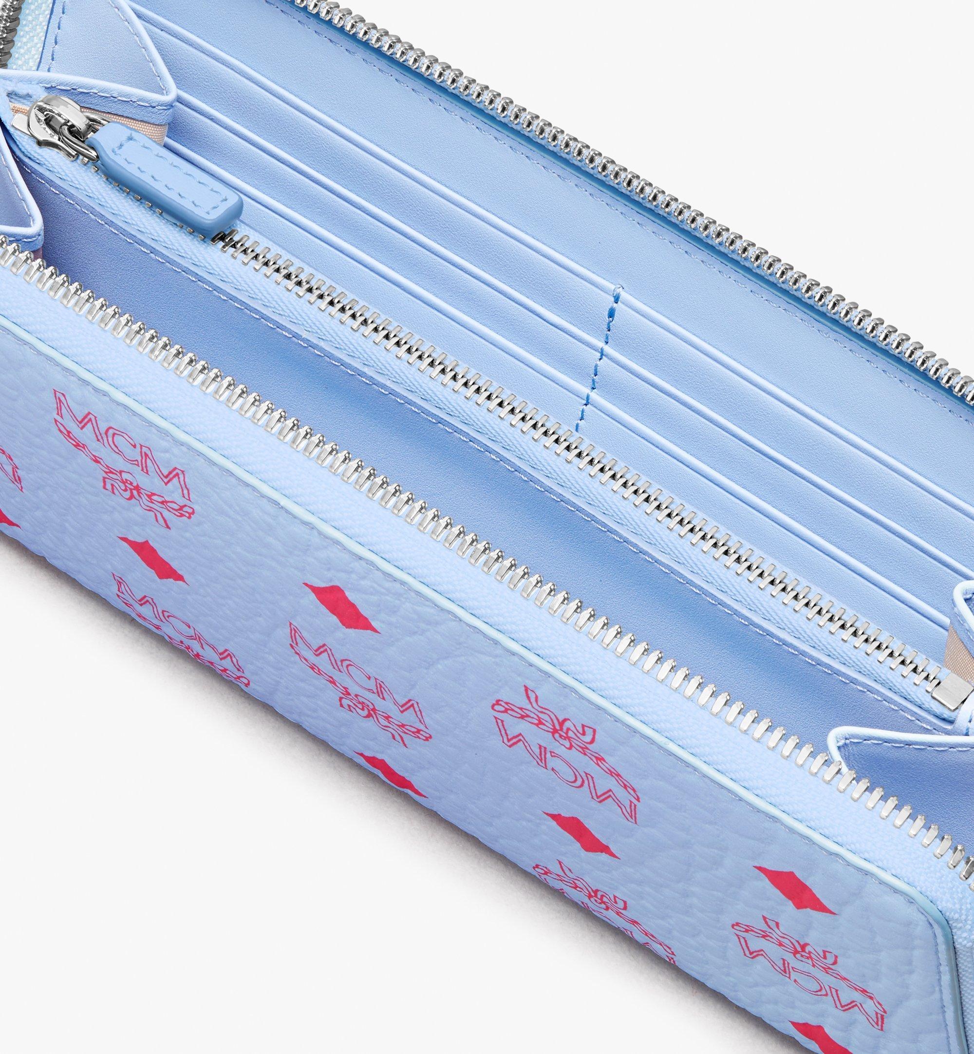 MCM Zip Around Tech Wallet in Visetos Original Blue MYLASVI01H2001 Alternate View 2