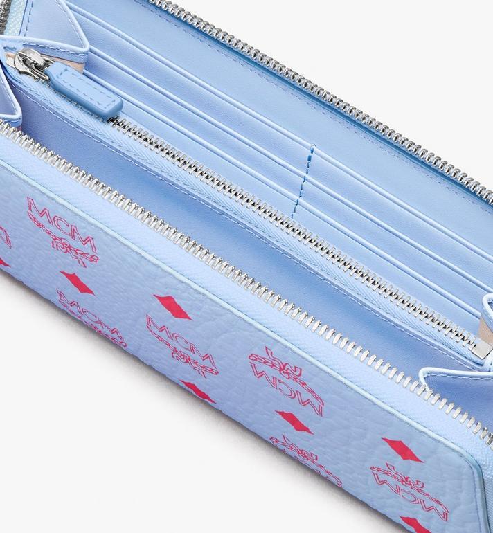 MCM Zip Around Tech Wallet in Visetos Original Blue MYLASVI01H2001 Alternate View 3
