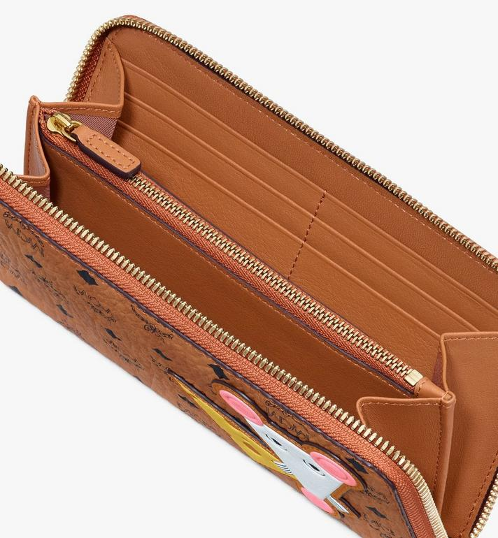 MCM Chinese New Year Zip Wallet Cognac MYLASXL02CO001 Alternate View 3