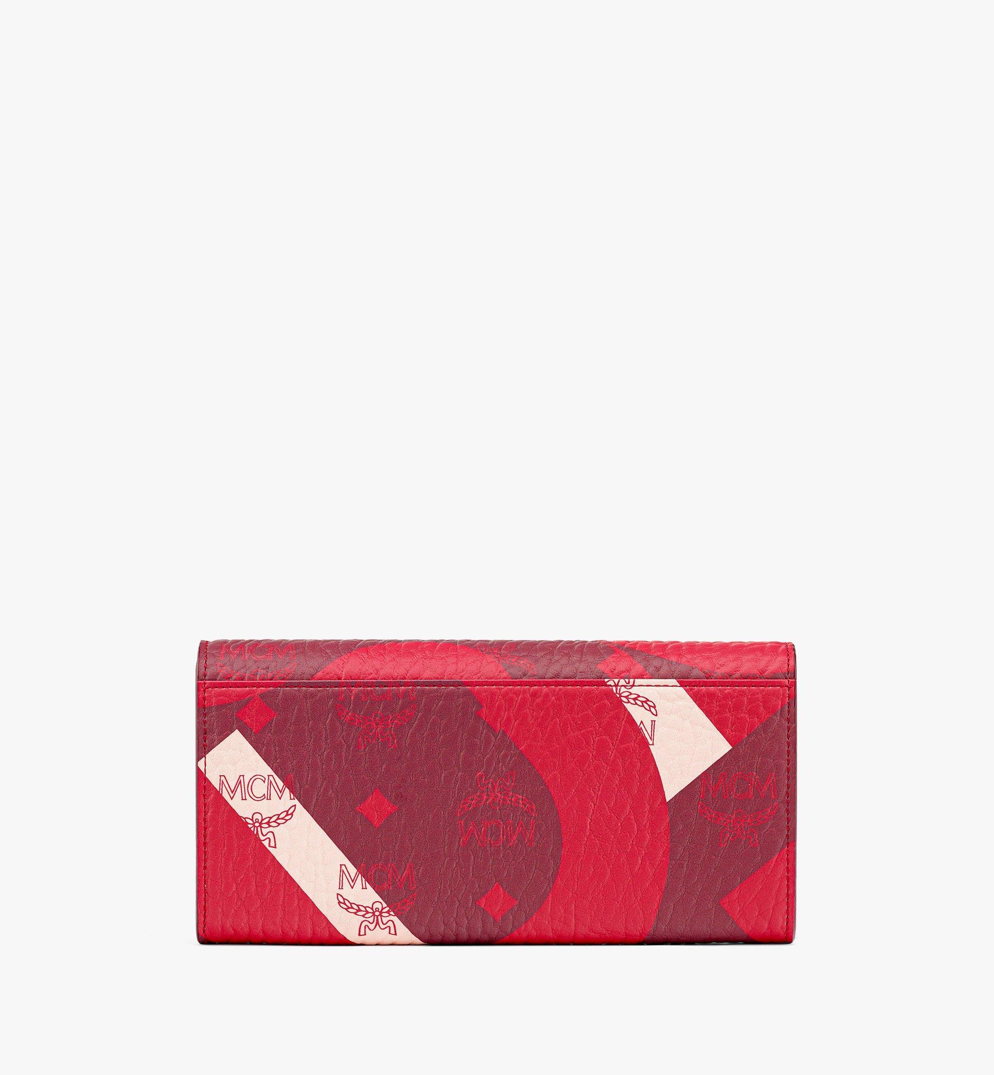 MCM Patricia Crossbody Wallet in Wave Visetos Red MYLBASX02R0001 Alternate View 2