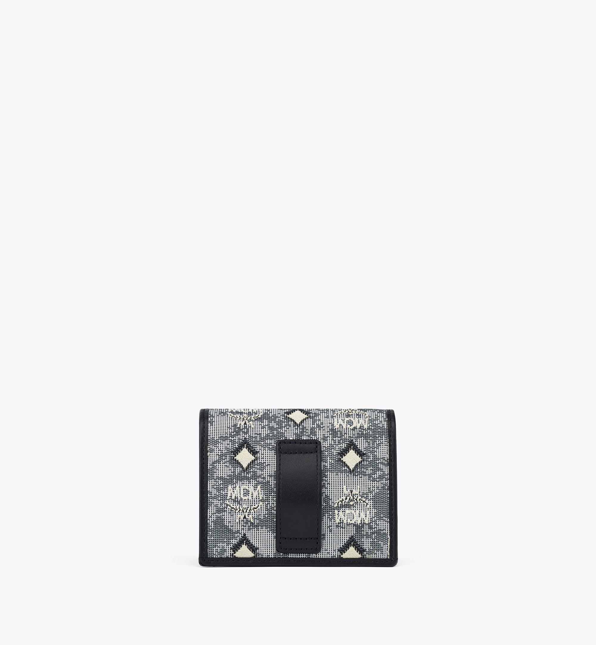 MCM Crossbody-Kartenetui aus Vintage-Jacquard und Monogramm Grey MYLBATQ01EG001 Noch mehr sehen 3