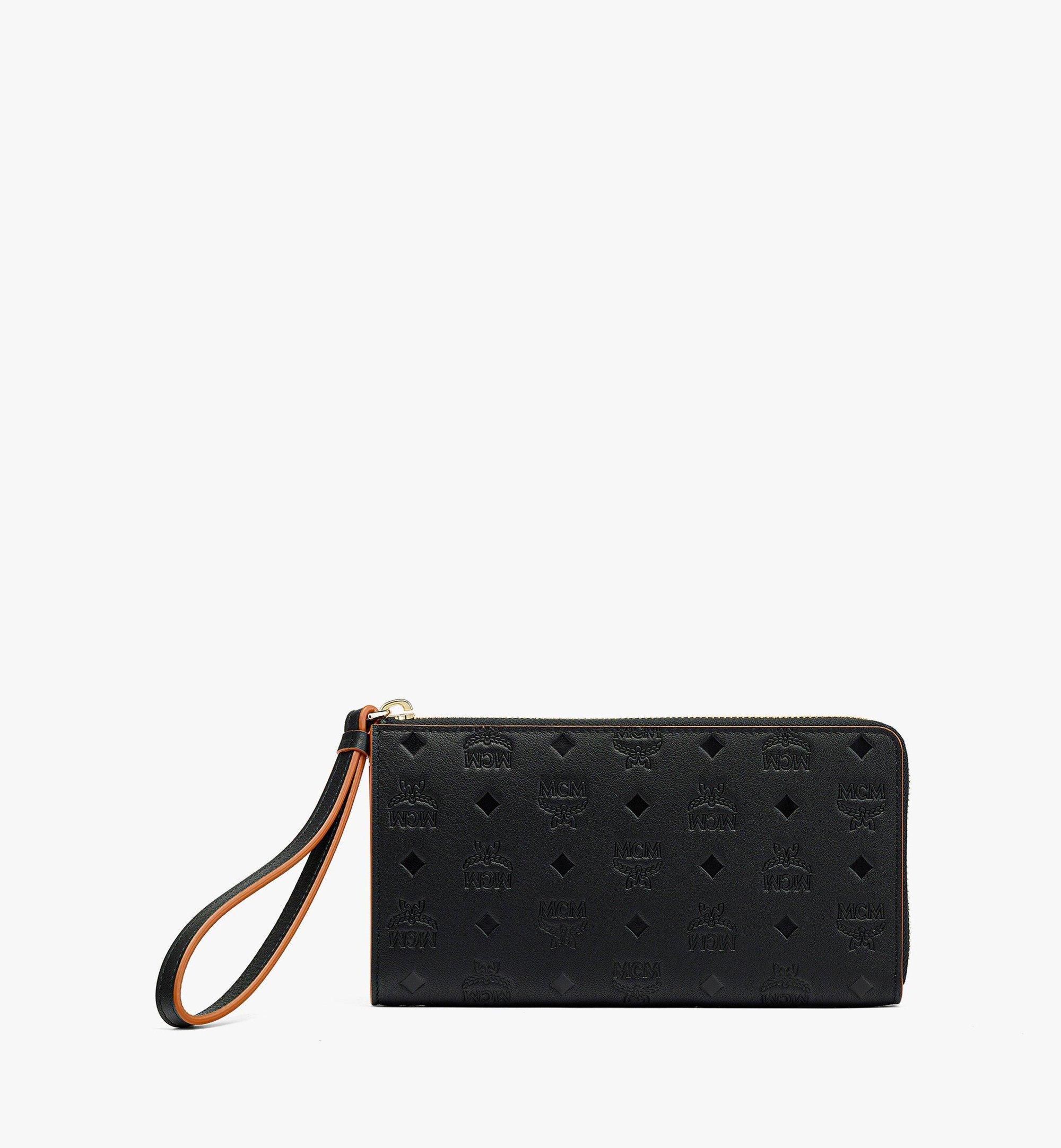 MCM Klara Zip Around Wallet in Monogram Leather Black MYLBSKM02BK001 Alternate View 1