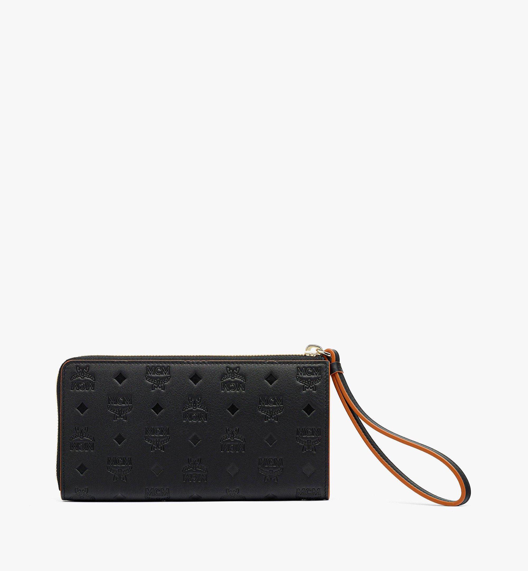 MCM Klara Zip Around Wallet in Monogram Leather Black MYLBSKM02BK001 Alternate View 2