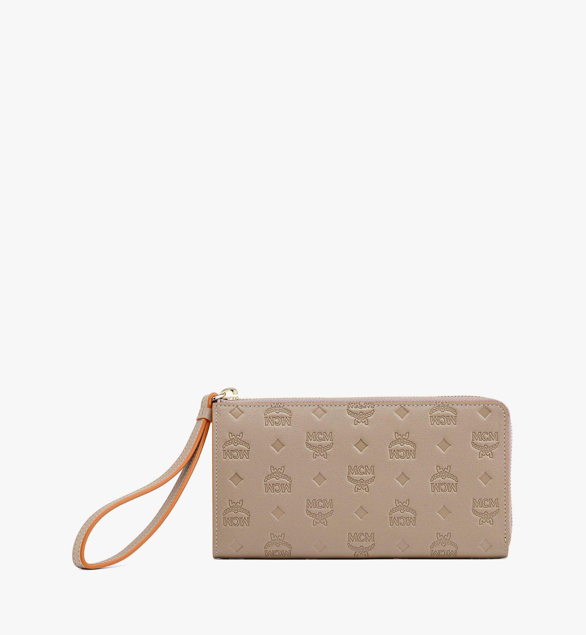 MCM Klara Brieftasche aus Leder mit Monogramm mit Rundum-Reissverschluss Grey MYLBSKM02NV001 Noch mehr sehen 1