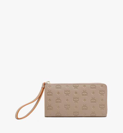 클라라 모노그램 레더 지퍼 지갑