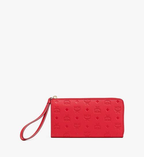 Klara Zip Around Wallet in Monogram Leather