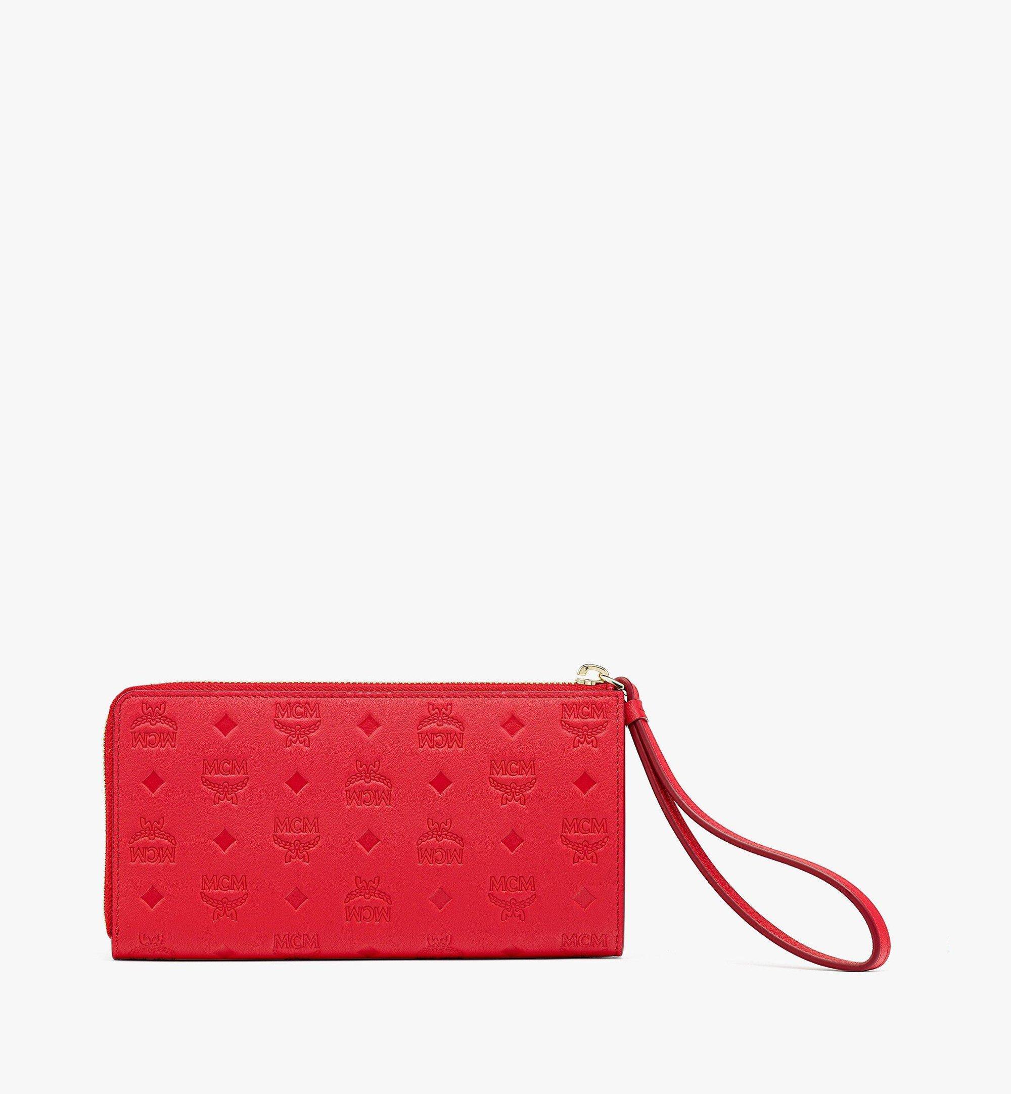 MCM Klara Zip Around Wallet in Monogram Leather Red MYLBSKM02R0001 Alternate View 2