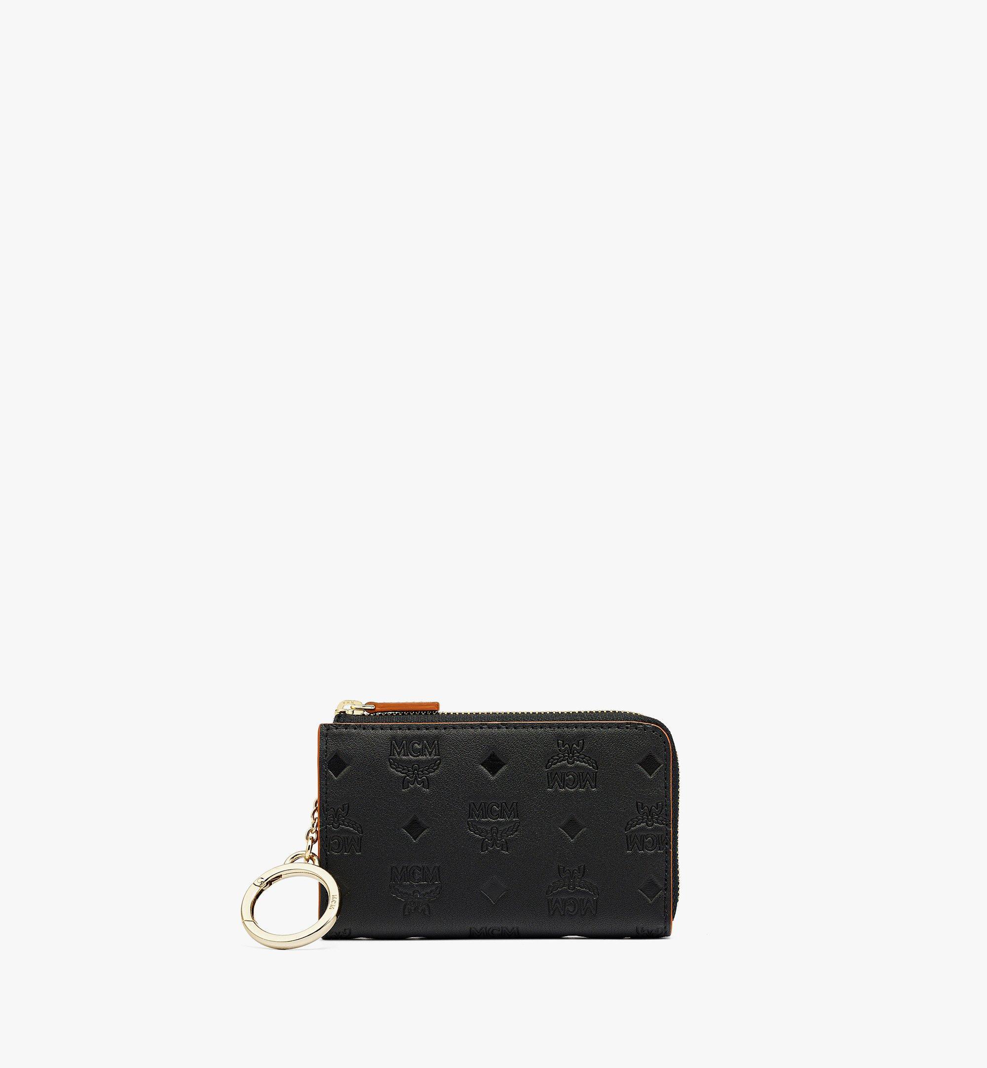 MCM Klara Brieftasche aus Leder mit Monogramm, Reissverschluss und Kartenfächern Black MYLBSKM03BK001 Noch mehr sehen 1
