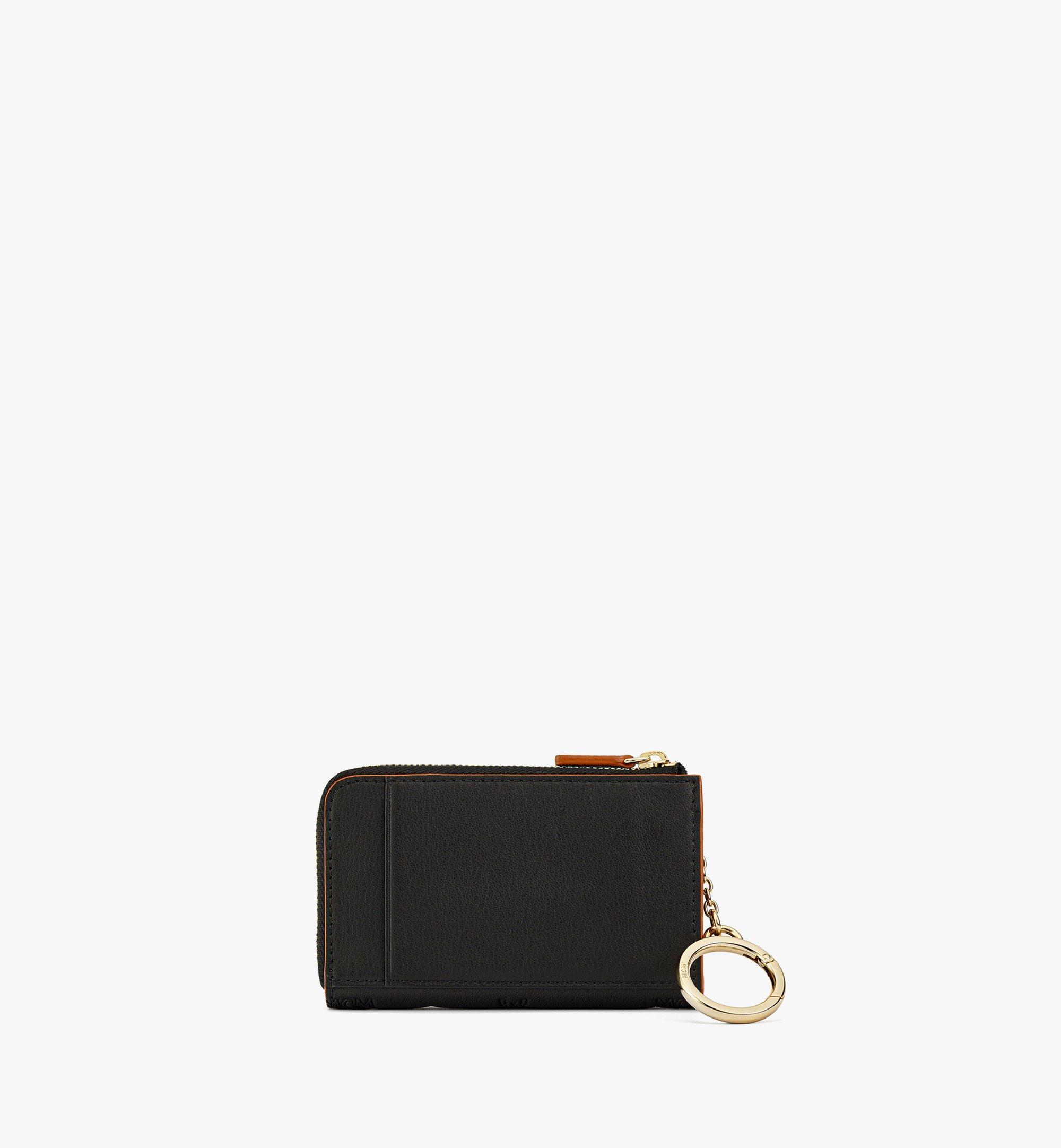 MCM Klara Brieftasche aus Leder mit Monogramm, Reissverschluss und Kartenfächern Black MYLBSKM03BK001 Noch mehr sehen 2
