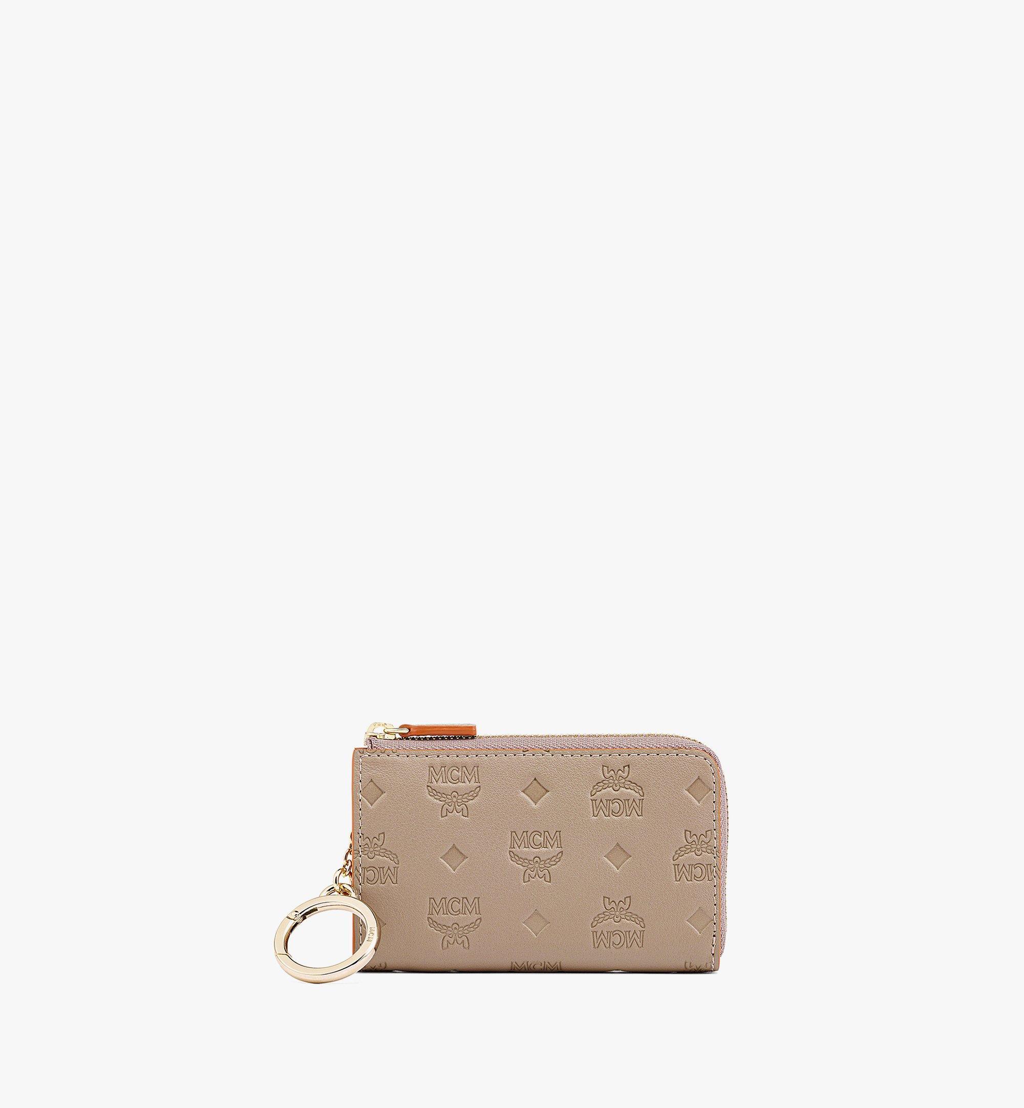 MCM Klara Brieftasche aus Leder mit Monogramm, Reissverschluss und Kartenfächern Grey MYLBSKM03NV001 Noch mehr sehen 1
