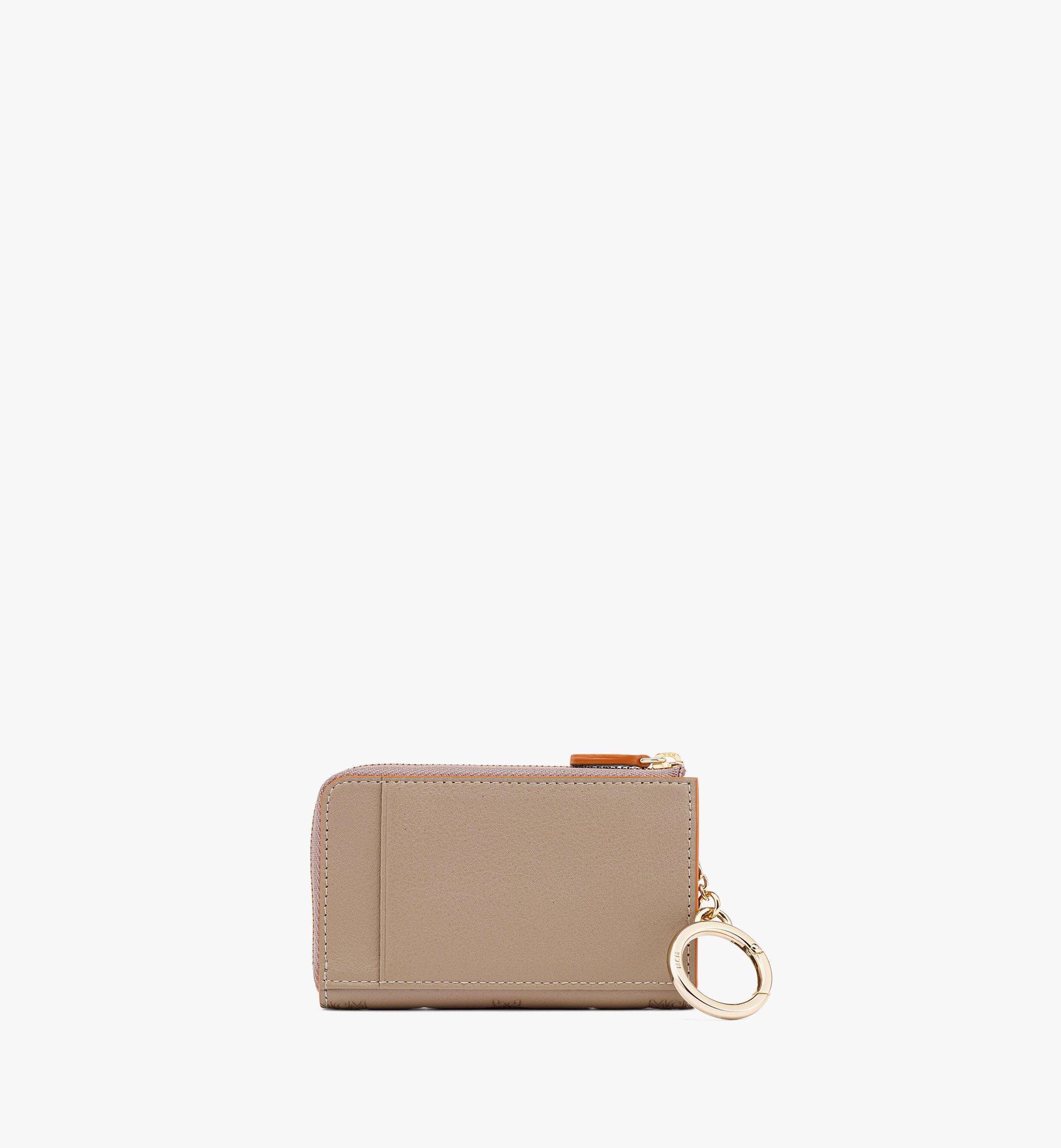MCM Klara Brieftasche aus Leder mit Monogramm, Reissverschluss und Kartenfächern Grey MYLBSKM03NV001 Noch mehr sehen 2