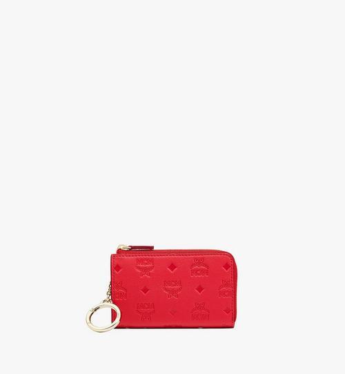 클라라 모노그램 레더 지퍼 카드 지갑