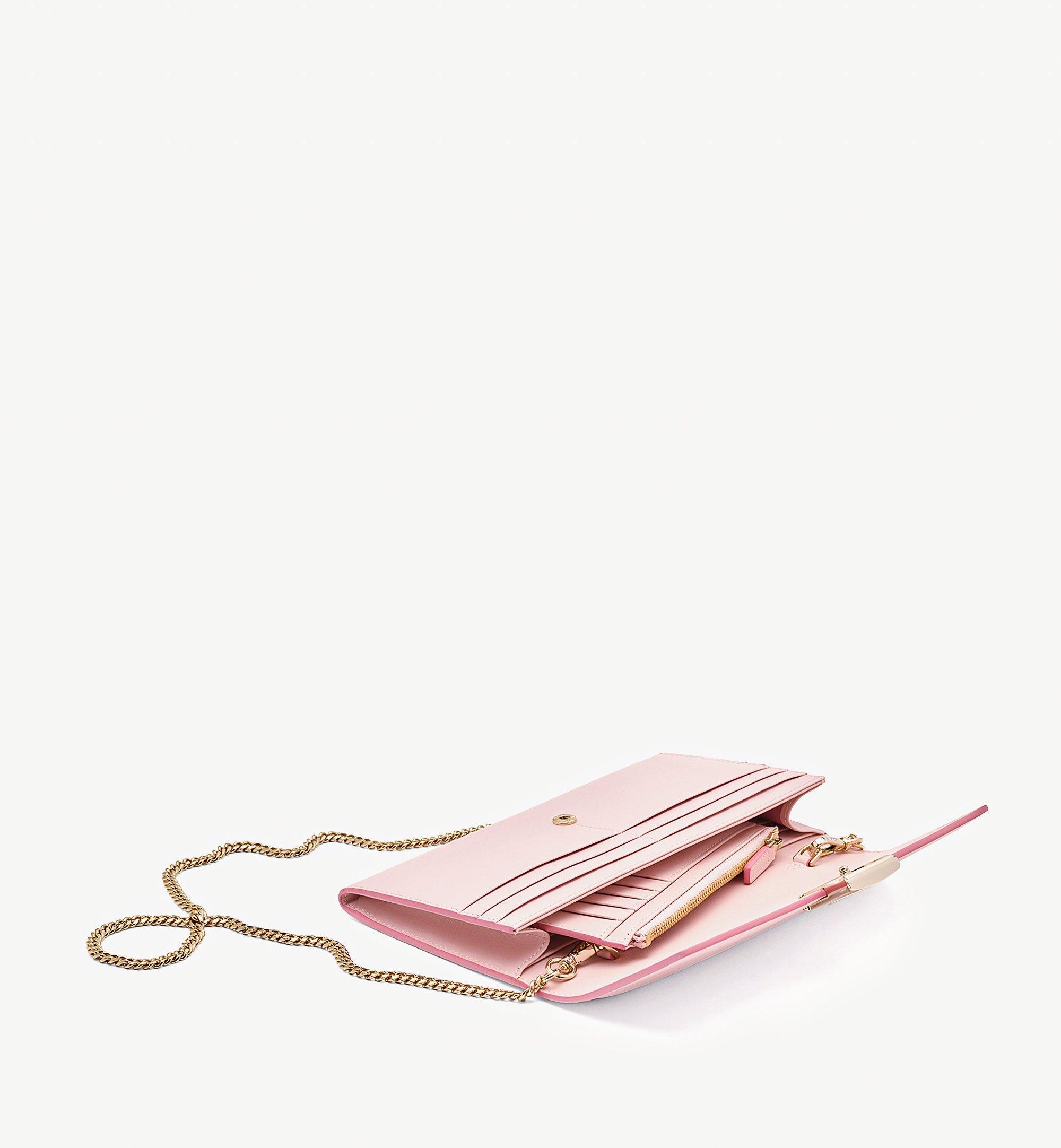 MCM Mena Crossbody Wallet in Embossed Leather Pink MYLBSLM01QH001 Alternate View 1