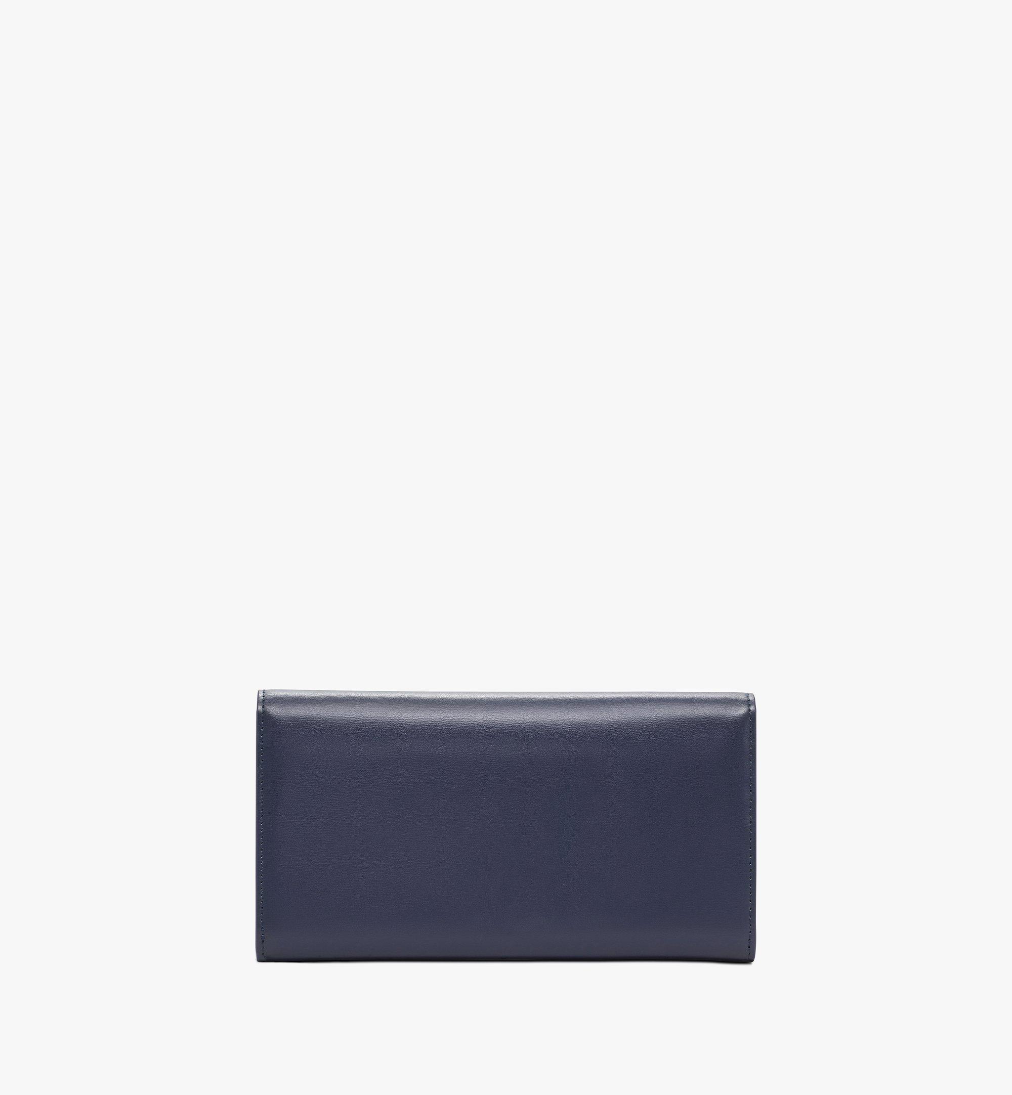 MCM Mena Crossbody Wallet in Embossed Leather Blue MYLBSLM01VZ001 Alternate View 2
