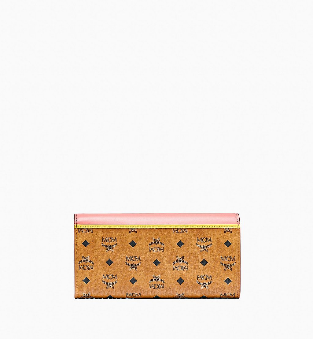 MCM Patricia Crossbody Wallet in Visetos Leather Block Pink MYLBSPA01O8001 Alternate View 2