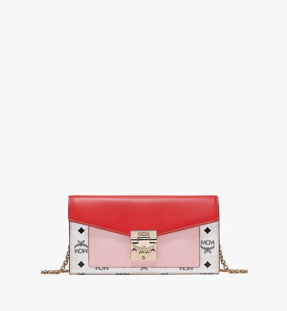 Patricia Crossbody Wallet in Visetos Leather Block 1