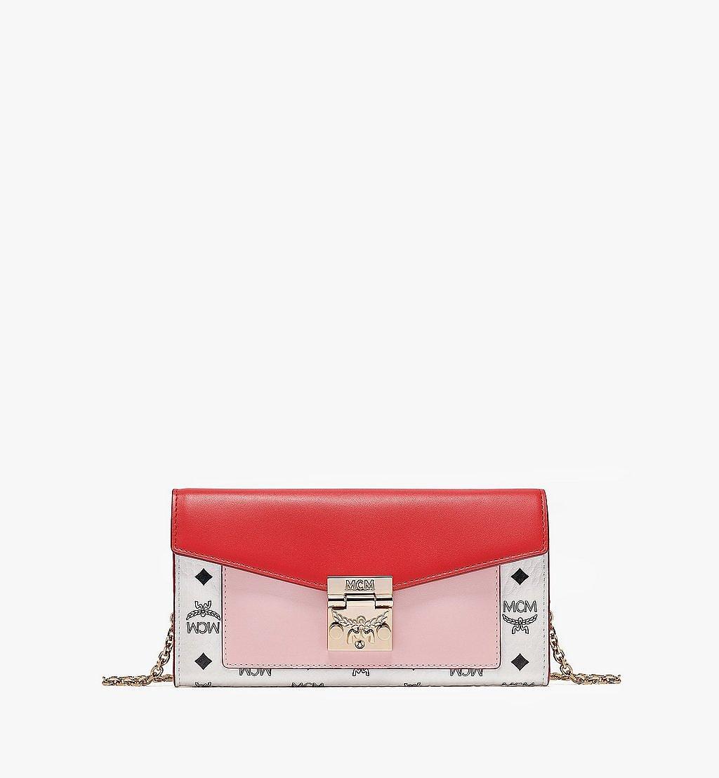 MCM Patricia Crossbody-Brieftasche mit Lederblock-Visetos Pink MYLBSPA01R4001 Noch mehr sehen 1