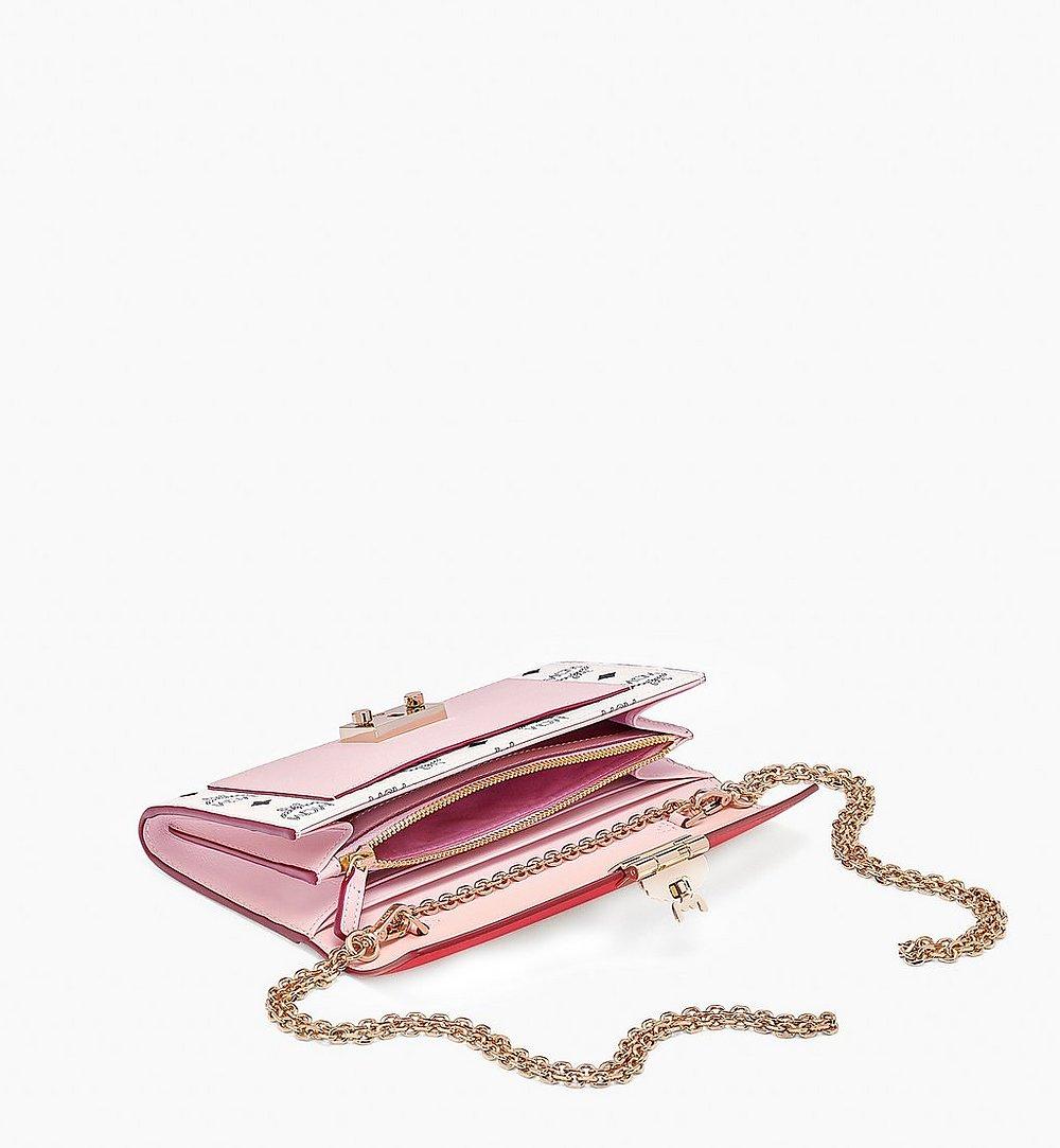 MCM 패트리샤 비세토스 레더 블록 크로스바디 지갑 Pink MYLBSPA01R4001 다른 각도 보기 1