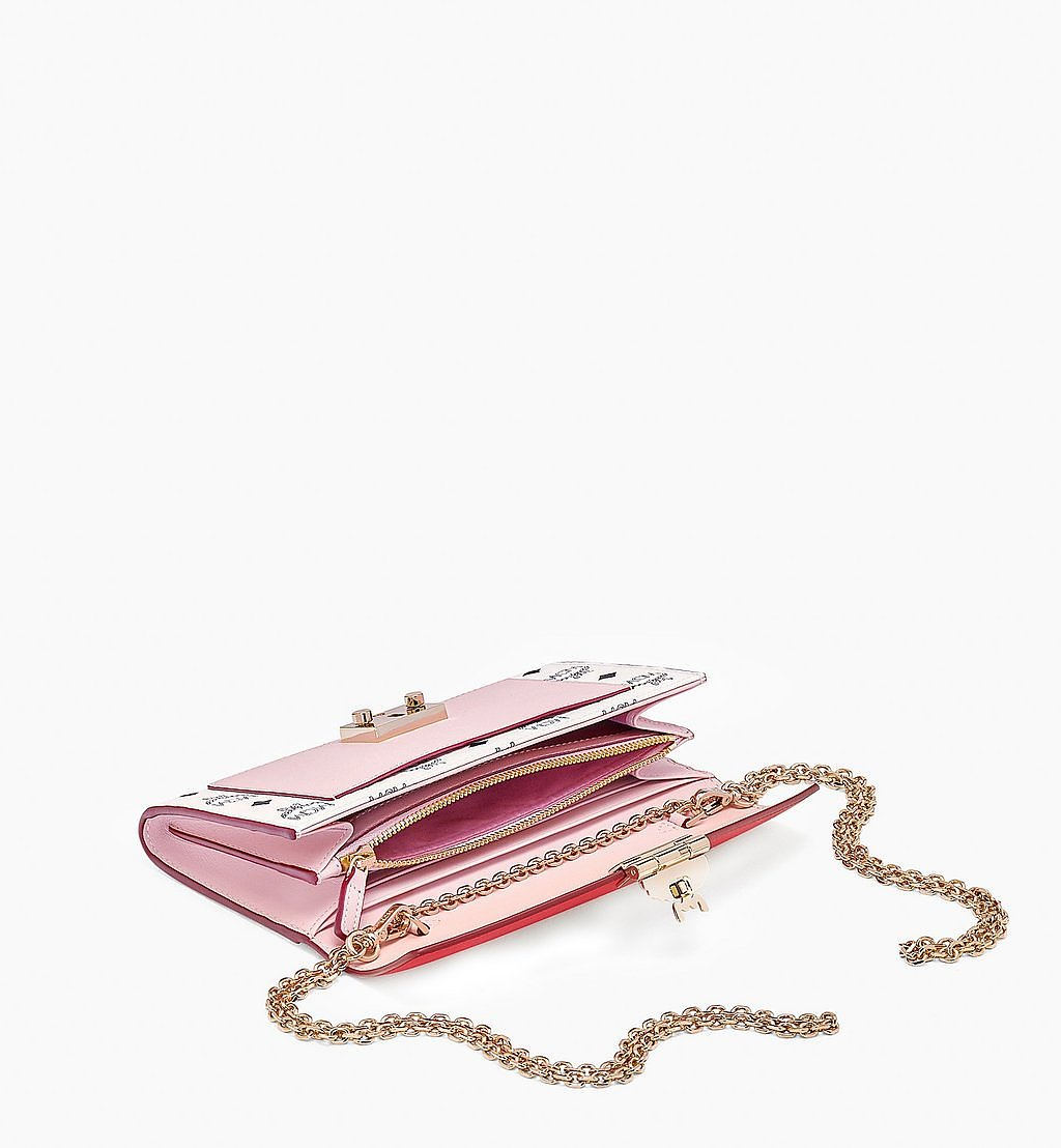 MCM Patricia Crossbody Wallet in Visetos Leather Block Pink MYLBSPA01R4001 Alternate View 1