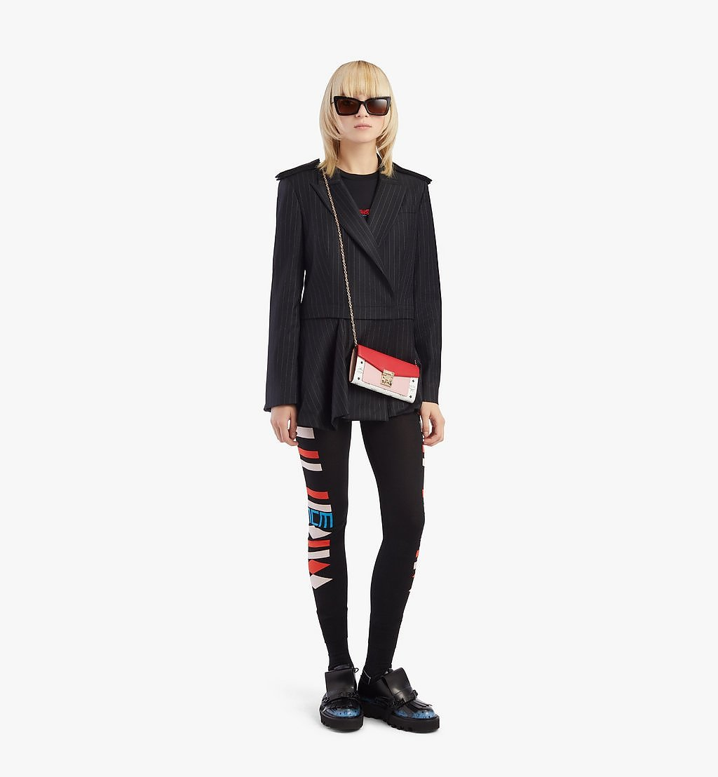 MCM Patricia Crossbody-Brieftasche mit Lederblock-Visetos Pink MYLBSPA01R4001 Noch mehr sehen 3