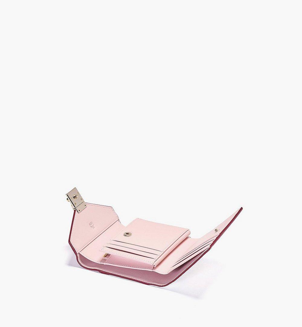 MCM 패트리샤 비세토스 레더 블록 3단 지갑 Pink MYLBSPA02R4001 다른 각도 보기 1