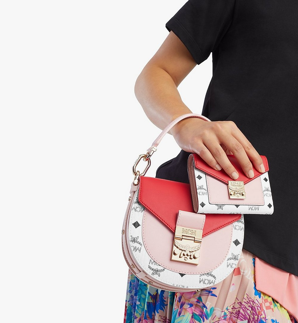 MCM Patricia Trifold Wallet in Visetos Leather Block Pink MYLBSPA02R4001 Alternate View 2