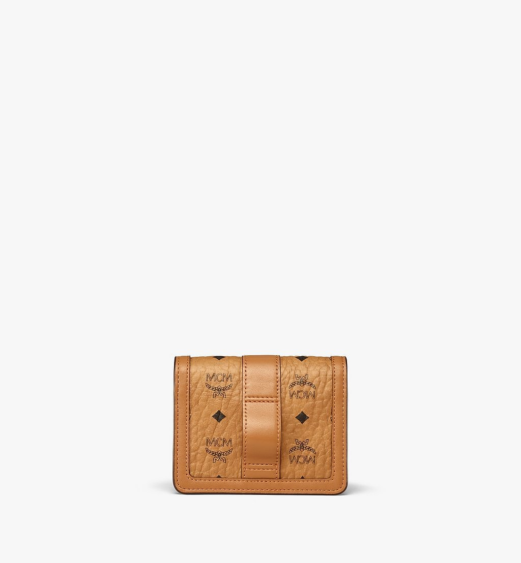 MCM Tracy Crossbody Card Holder in Visetos Cognac MYLBSXT01CO001 Alternate View 3