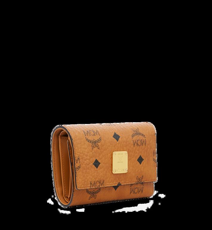 MCM Heritage Three Fold Wallet in Visetos Cognac MYM6AVI65CO001 Alternate View 2