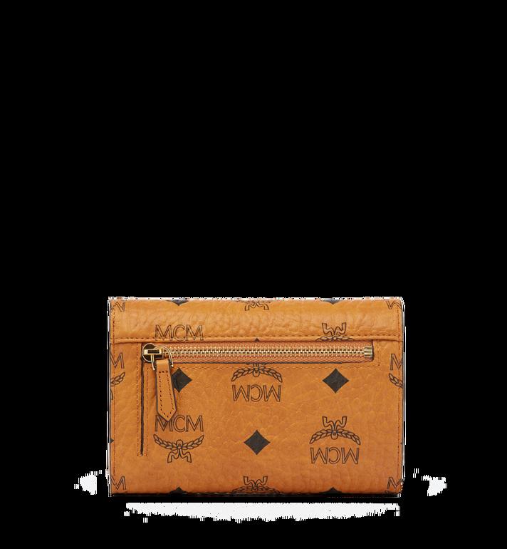 MCM Heritage Three Fold Wallet in Visetos Cognac MYM6AVI65CO001 Alternate View 3