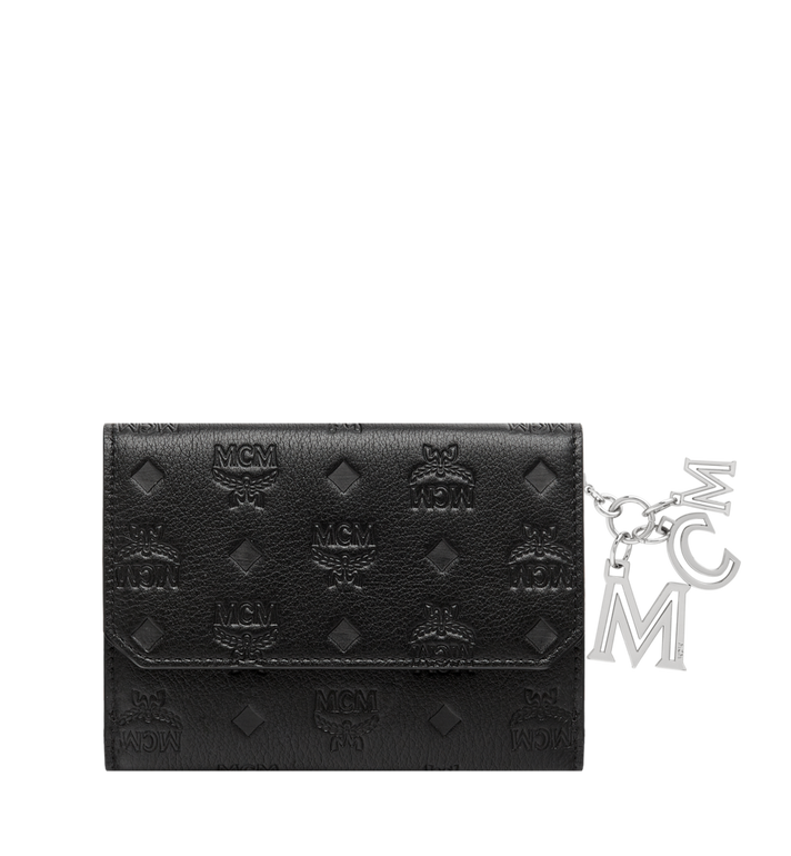 MCM Two Fold Wallet in Monogram Leather Charm MYM8AKM01BK001 AlternateView