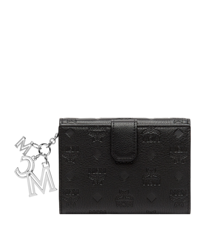 MCM Two Fold Wallet in Monogram Leather Charm MYM8AKM01BK001 AlternateView3