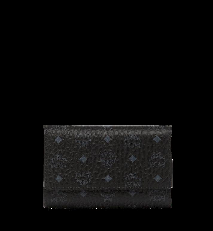 MCM Three Fold Wallet in Visetos Original MYM8SVI49BK001 AlternateView