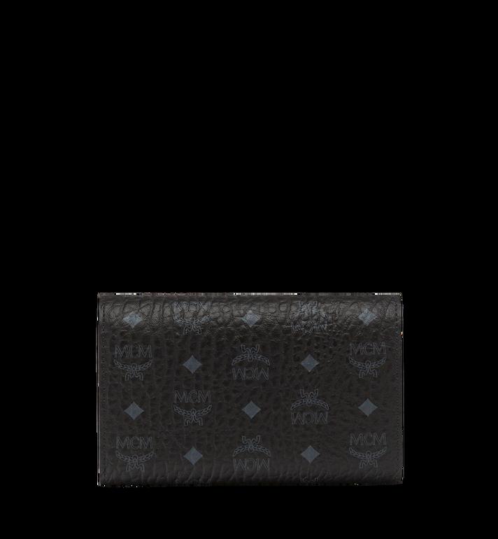 MCM Three Fold Wallet in Visetos Original MYM8SVI49BK001 AlternateView3