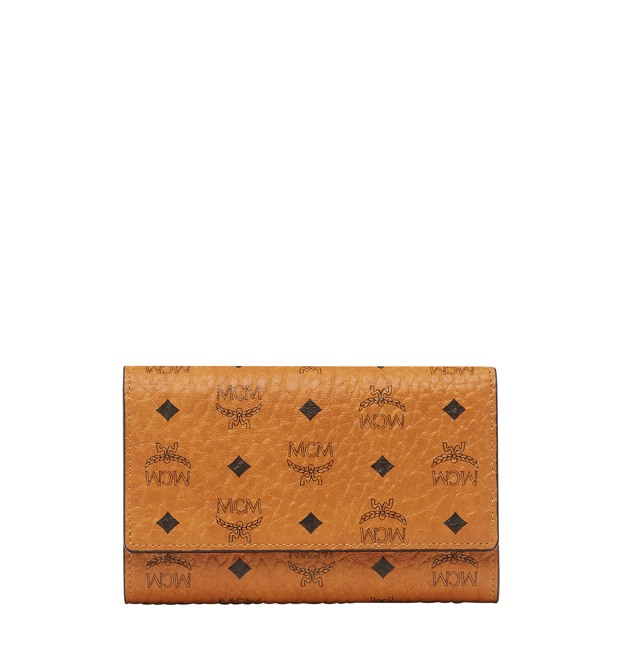 MCM Three Fold Wallet in Visetos Original Cognac MYM8SVI49CO001 更多视角 1